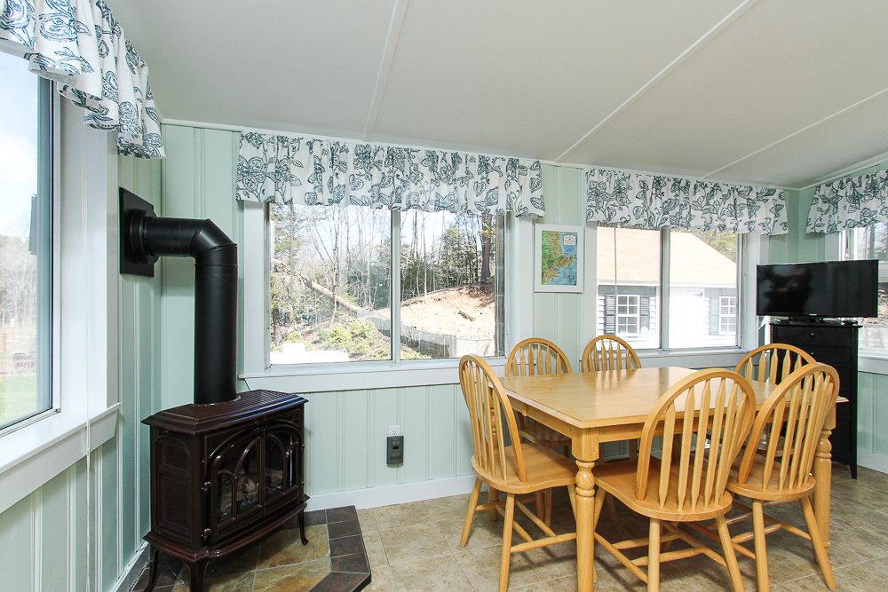 Sun room with propane stove 296 Lake Drive Hamilton MA
