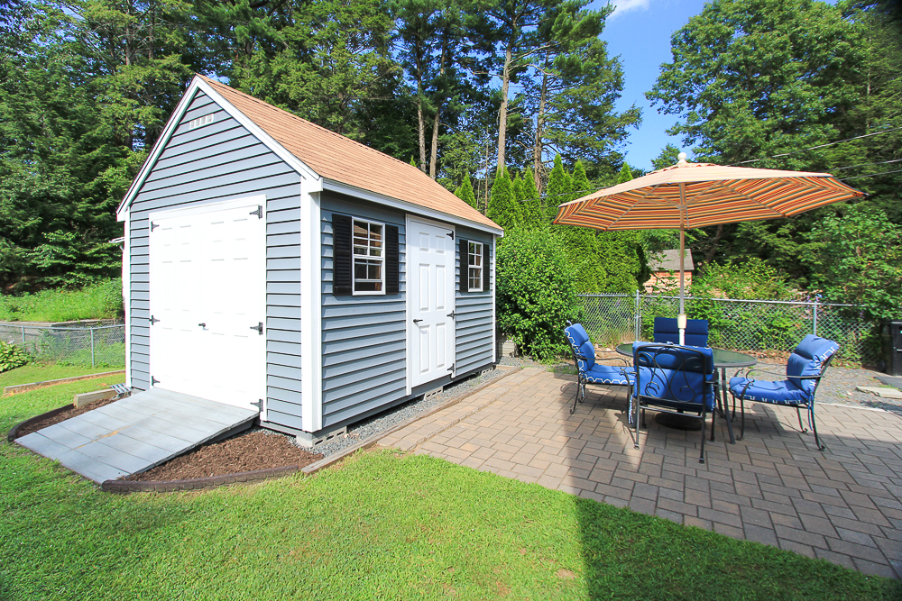 Shed and patio 296 Lake Drive Hamilton MA