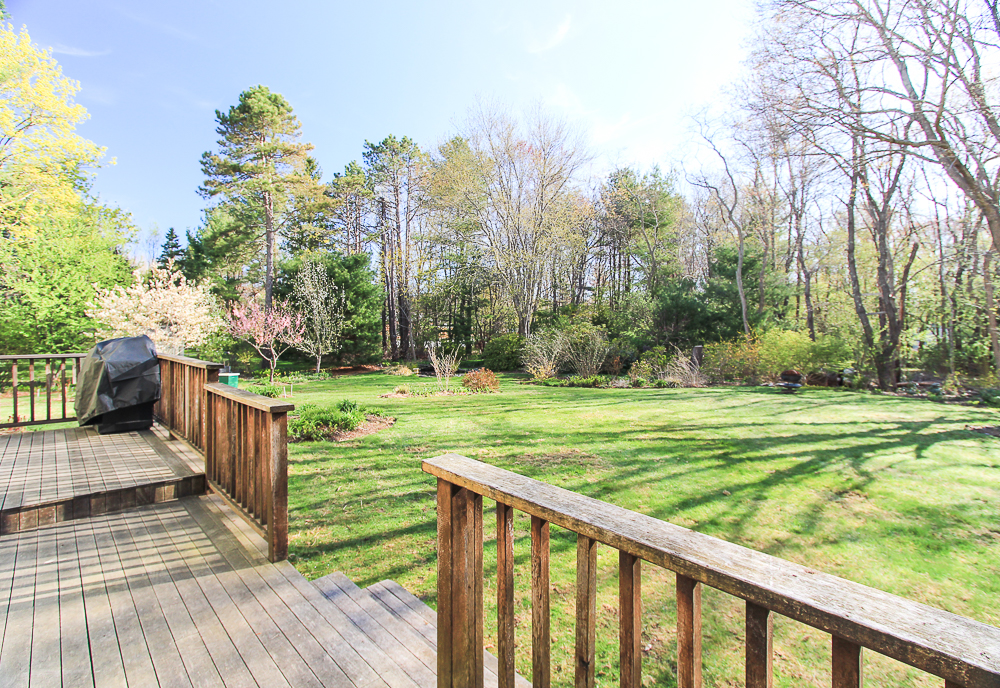Yard from the deck 10 Patton Drive Hamilton MA