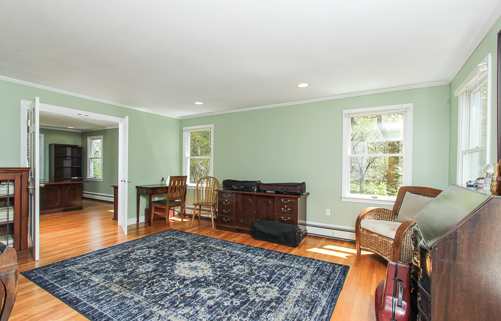 Living room with French doors 10 Patton Drive Hamilton MA