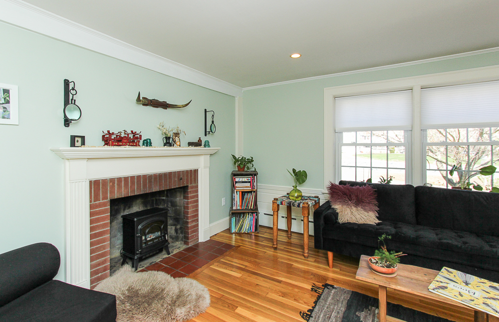 Family room fireplace 896 Haverhill Street Rowley MA