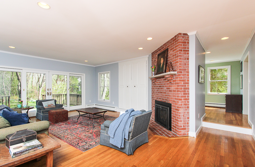 Family room with fireplace 10 Patton Drive Hamilton MA