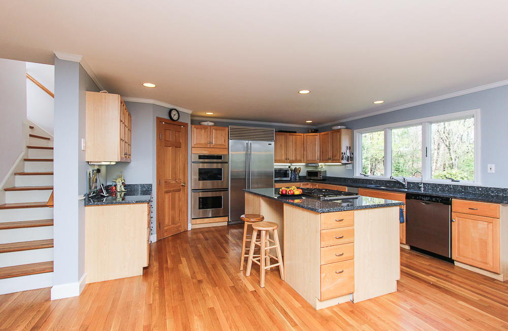 Kitchen and back steps 10 Patton Drive Hamilton MA