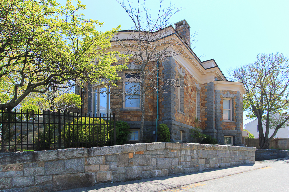 Wall and rear view 8 Jewett Street Rockport MA
