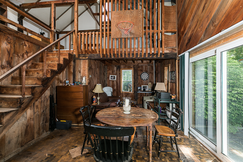 Interior with loft in outbuilding 298 High Street Ipswich MA