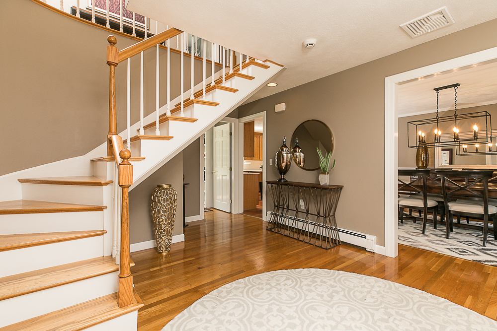Foyer and stairway 10 Farrington Lane Hamilton Massachusetts