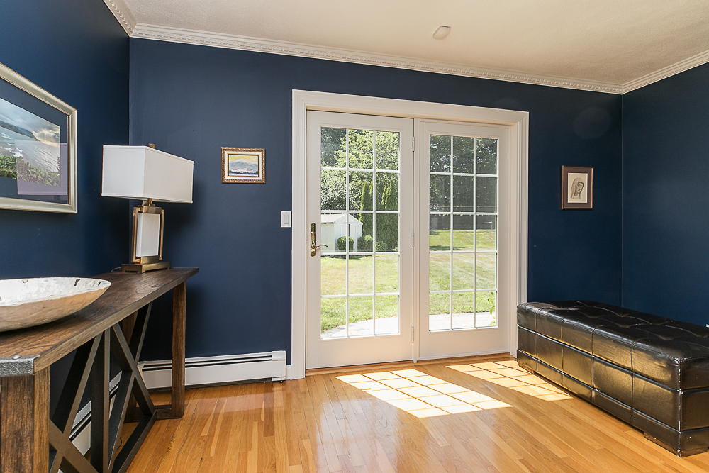 Living room French door to patio 10 Farrington Lane Hamilton Massachusetts