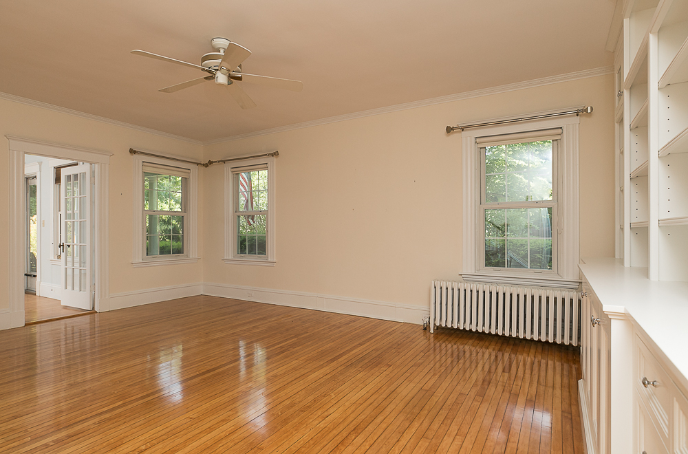 Living room with hardwood floors at 38 Arbor Street Hamilton Massachusetts