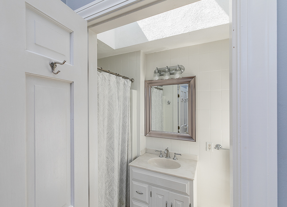 Main Bath with shower and skylight 10 Farrington Lane Hamilton Massachusetts