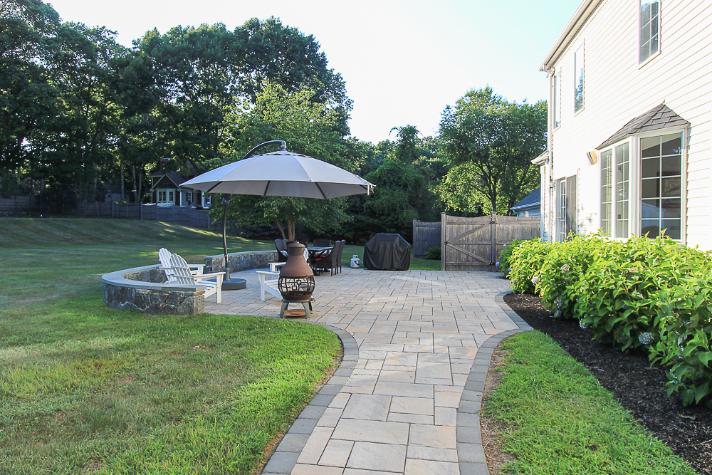 Path to patio 10 Farrington Lane Hamilton Massachusetts