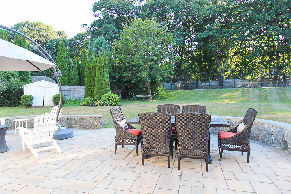 Patio dining and yard 10 Farrington Lane Hamilton Massachusetts