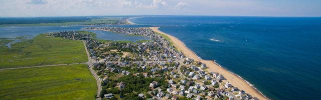 Aerial Plum Island Newbury Massachusetts