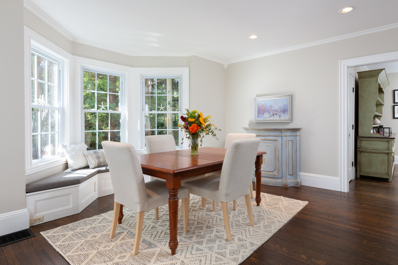 Dining room with window seat 568 Hale Street Beverly Massachusetts