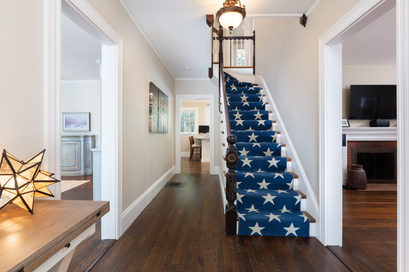 Foyer with stairway to the second floor 568 Hale Street Beverly Massachusetts