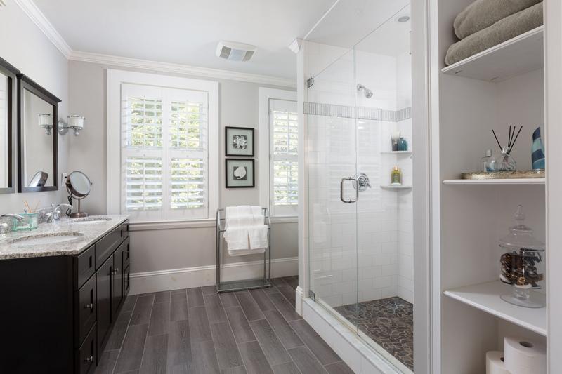 Main bathroom with tiled walk-in shower 568 Hale Street Beverly Massachusetts