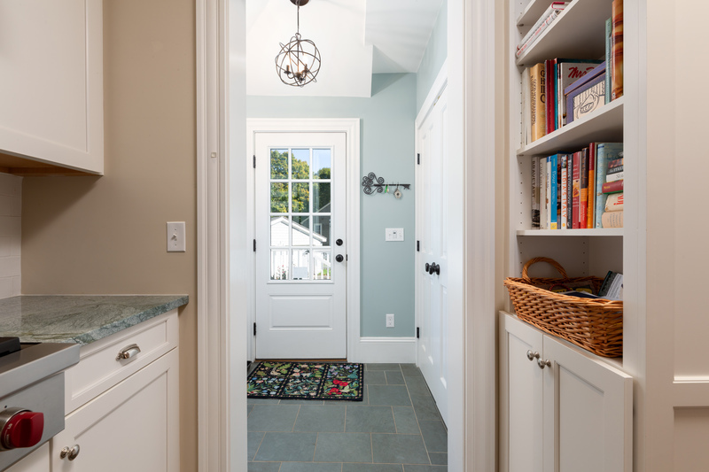 Mudroom from the kitchen with slate floor 568 Hale Street Beverly Massachusetts