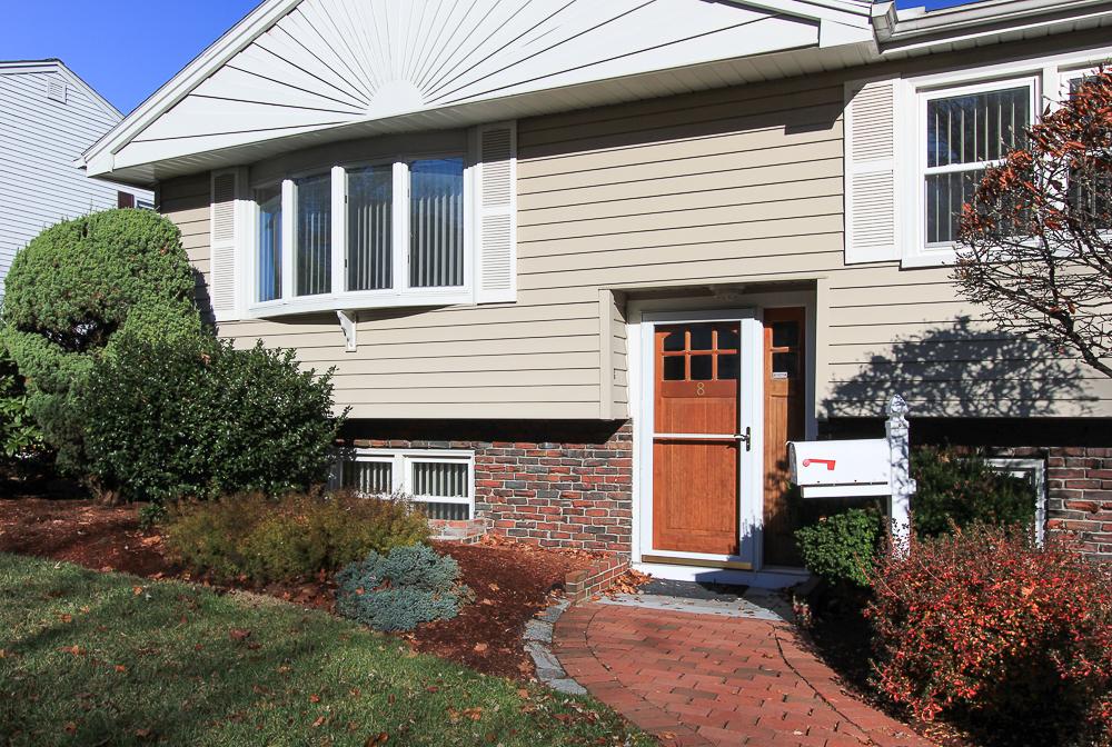 Front door and walkway 8 Pond Street Peabody Massachusetts