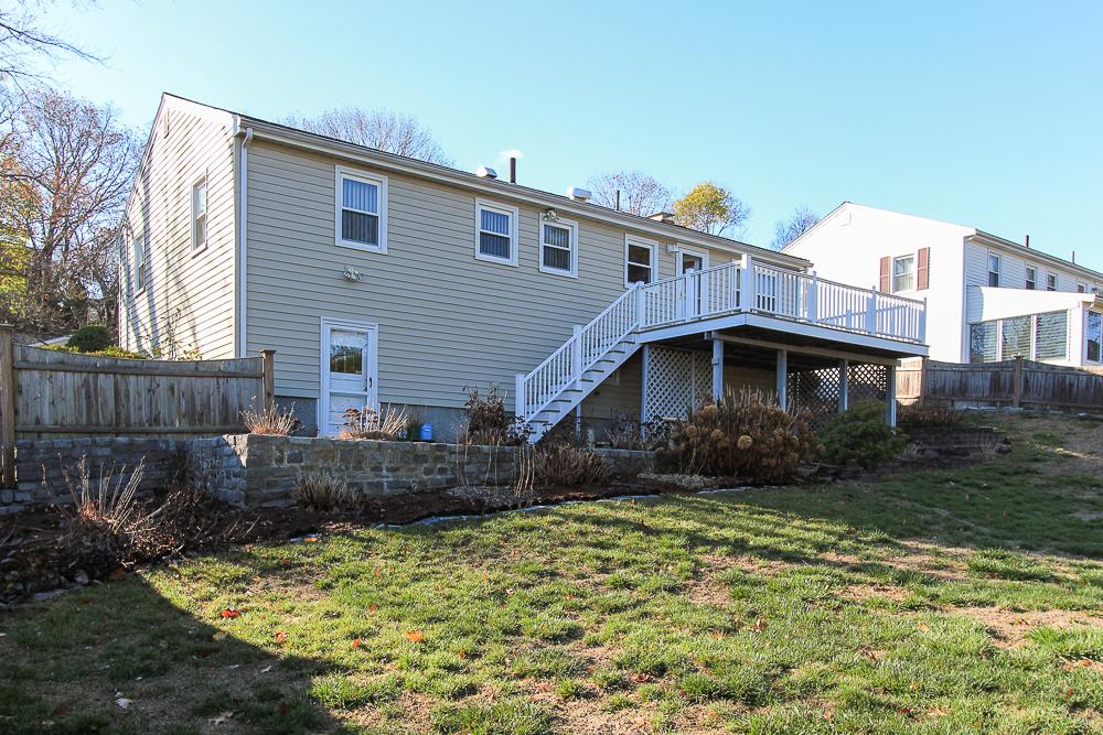 Rear of the house 8 Pond Street Peabody Massachusetts