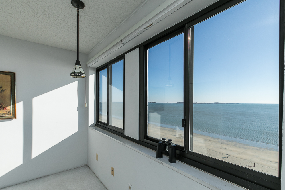 Windows looking out to the ocean and the beach 510-1002 Revere Beach BLVD Revere Massachusetts