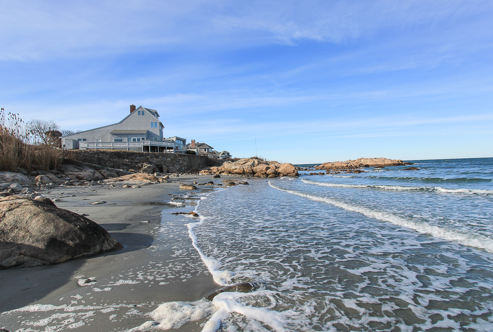 Looking at the house from the beach 23 Wyoma Road Gloucester Massachusetts