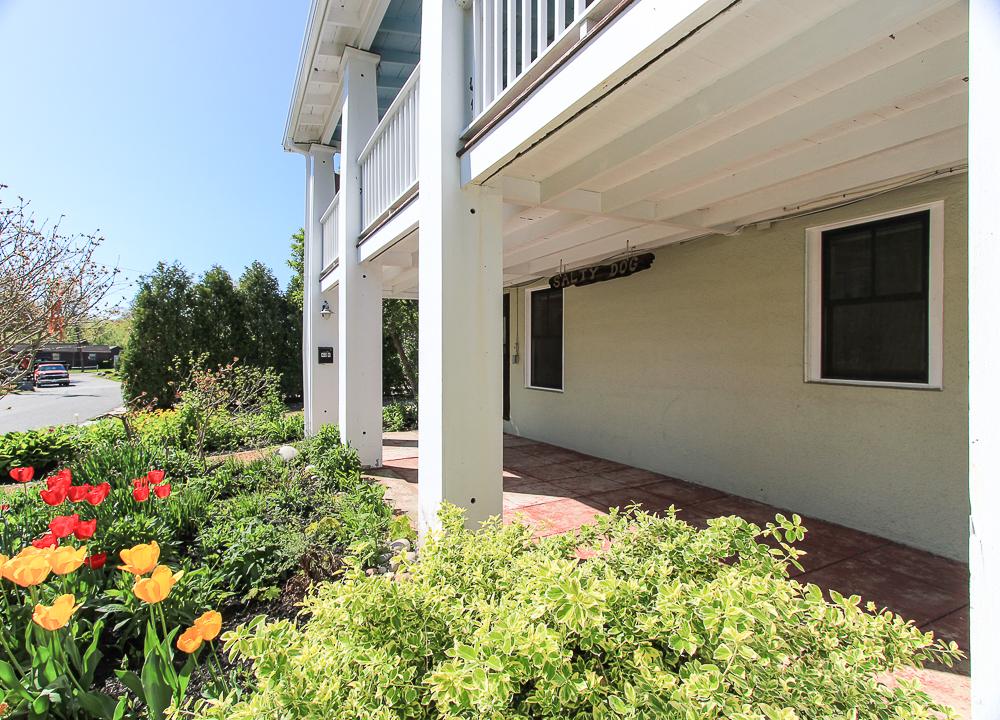 Front garden and patio 40 Atlantic Avenue Rockport Massachusetts