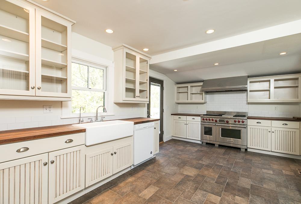 Kitchen with tile floor 40 Atlantic Avenue Rockport Massachusetts