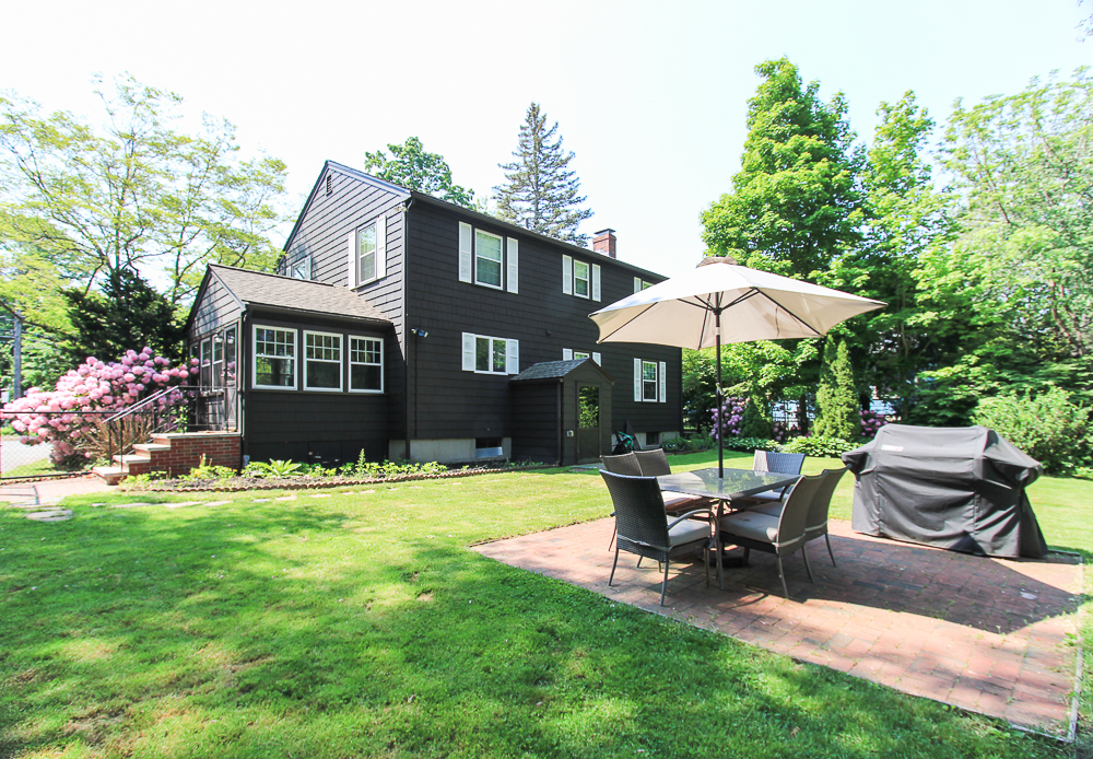 Patio and back of the house 300 Essex Street Hamilton Massachusetts