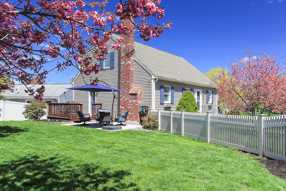 Side with fenced in yard 6 Ricker Circle Hamilton MA