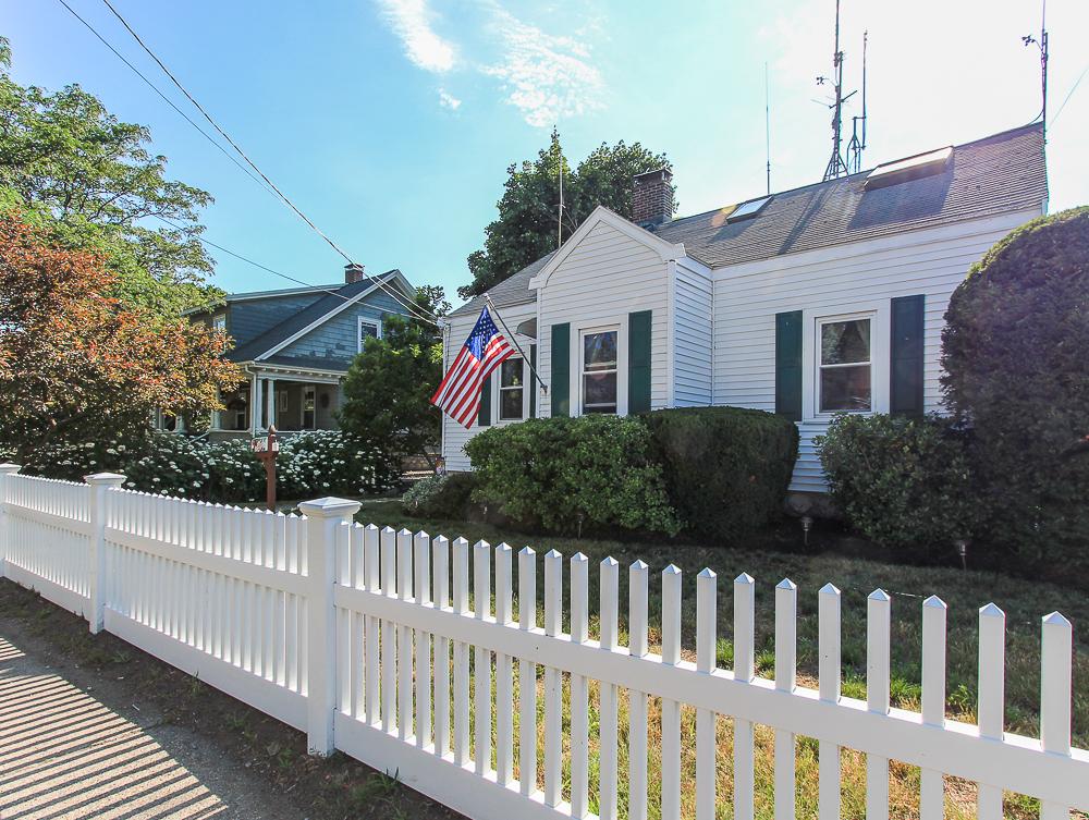 Fence in front of house 188 Lynn Street Peabody, Massachusetts