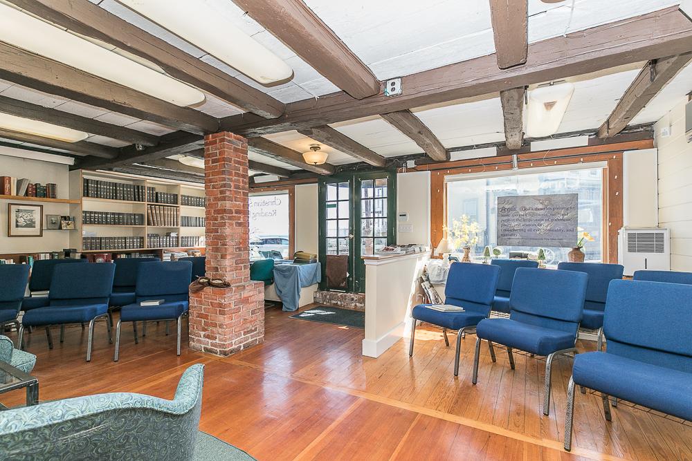 Front room with fir floors 2 Beach Street Rockport Massachusetts