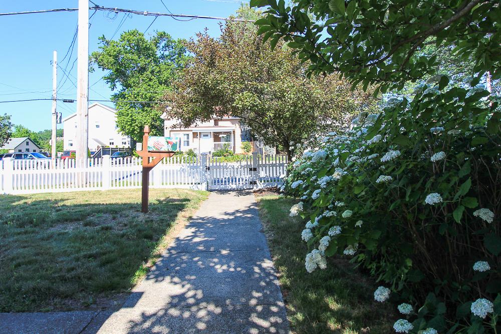 Front walk and fence 188 Lynn Street Peabody, Massachusetts