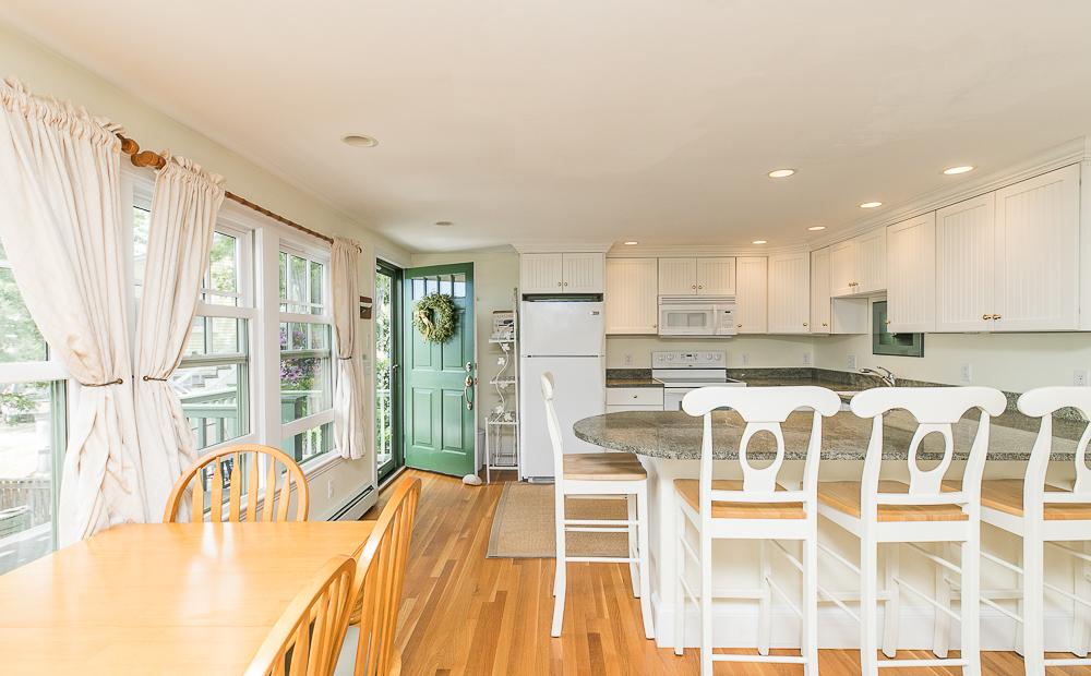 Jewel Kitchen, dining area and breakfast bar 1 Main Street Rockport Massachusetts