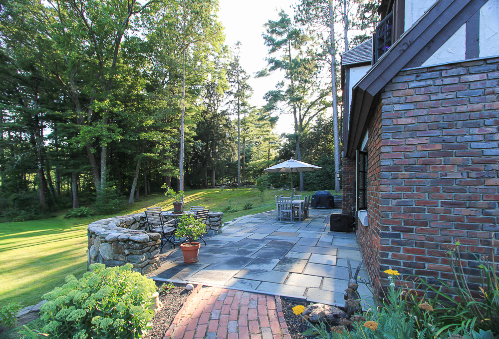 Brick Path to patio 34 Cutler Road Hamilton Massachusetts